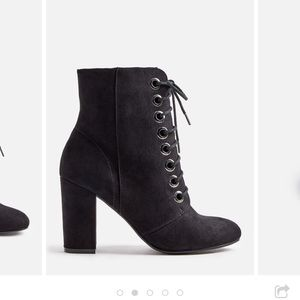 NEW Black Lace Up Booties